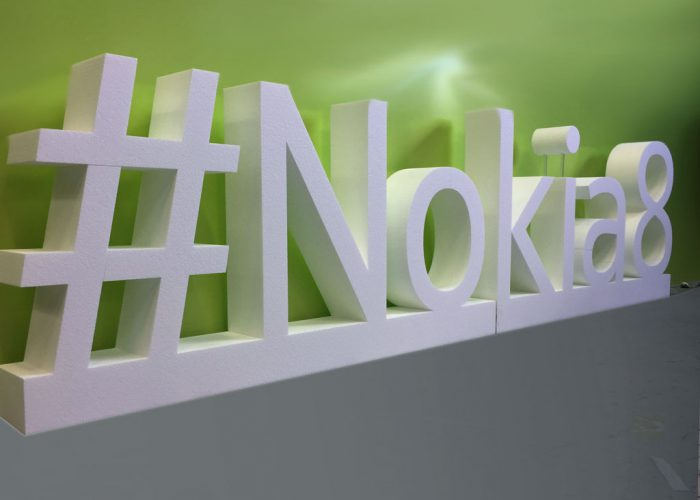 #Nokia8 Large Scale Lettering